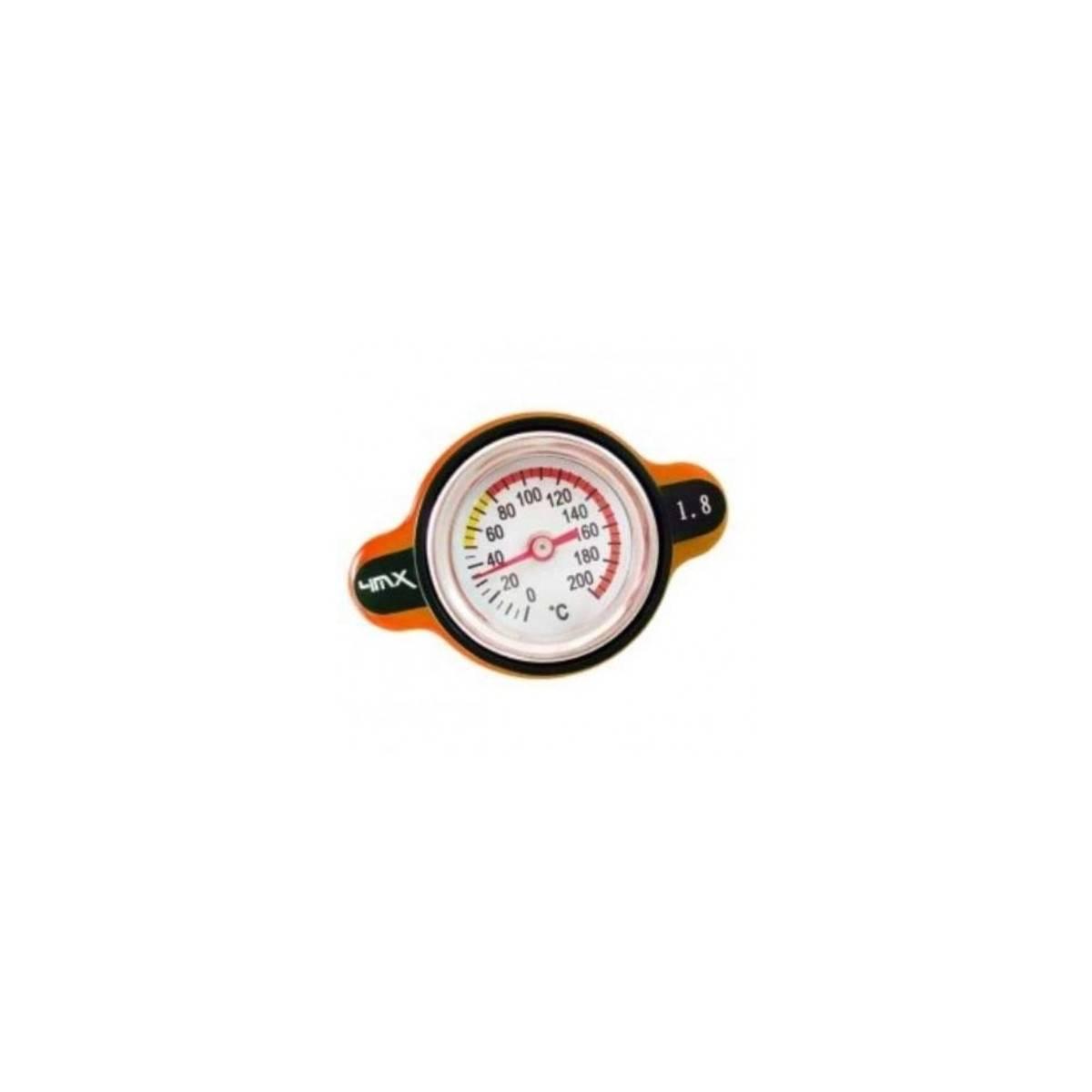 4MXK18-NR - Tapon Radiador 4Mx Con Temperatura Europea Naranja