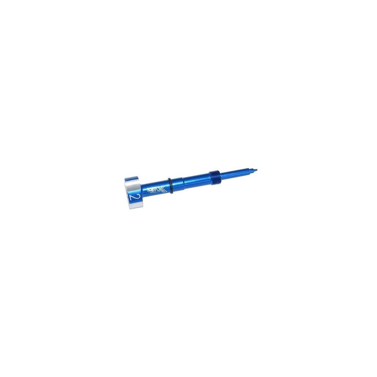 FMS01-AZ - Tornillo Mezcla Carburador 4Mx Azul