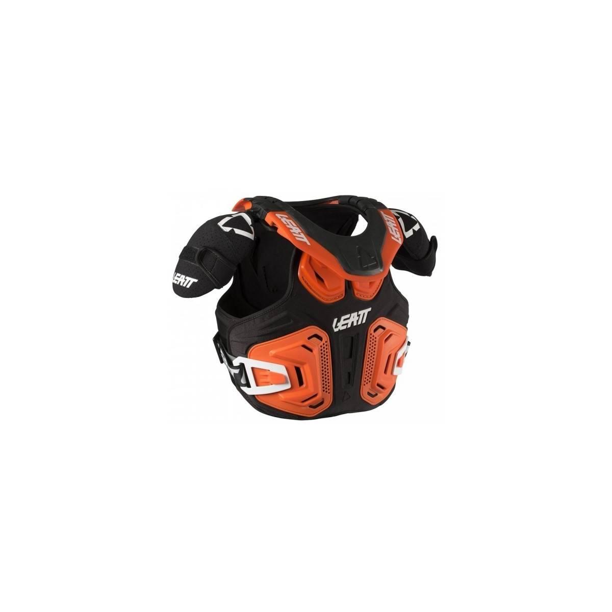 LB101801002 - Peto Collarin Fusion 2.0 Junior Leatt Brace Naranja Negro