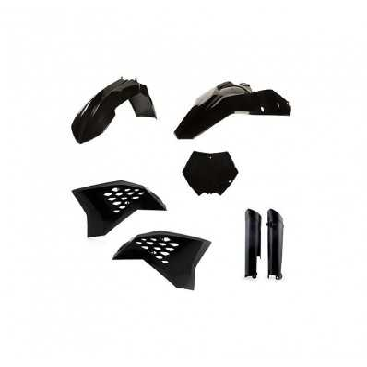 0010294-090 - Kit Plasticos Sx 125 07 10 Negro
