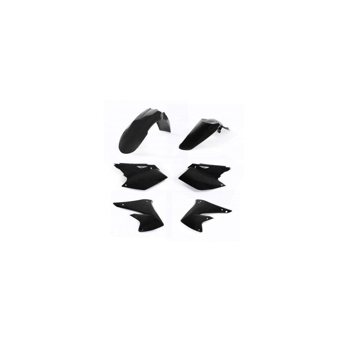 0017874-090 - Kit Plasticos Yz 125 Yz 250 Wr 125 Wr 250 15 17 Negro