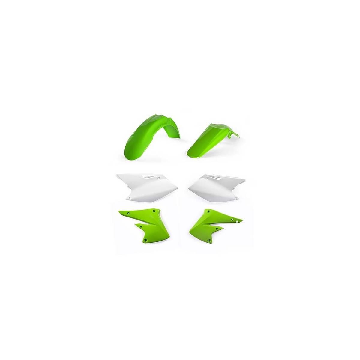 0021842-131 - Kit Plasticos Kxf 450 16 17 Blanco Verde