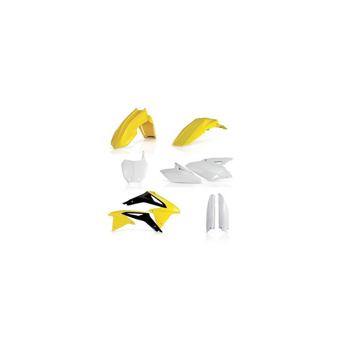0022385-061 - Full Kit Plasticos Acerbis Crf 250 18 Crf450 17 18 Amarillo Fluor