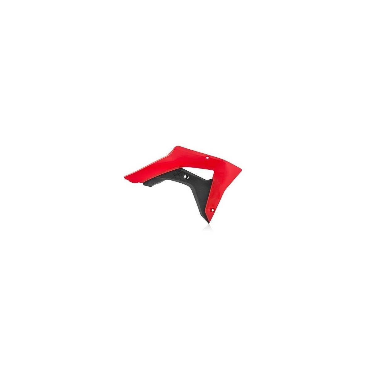 0022529-349 - Tapa Radiador Acerbis Honda Crf450Rx 17 18 Rojo Negro