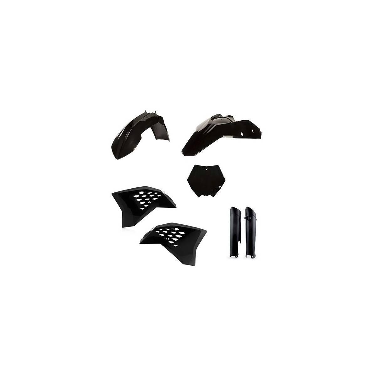 0023085-090 - Full Kit Plasticos Yz 250 18 Negro