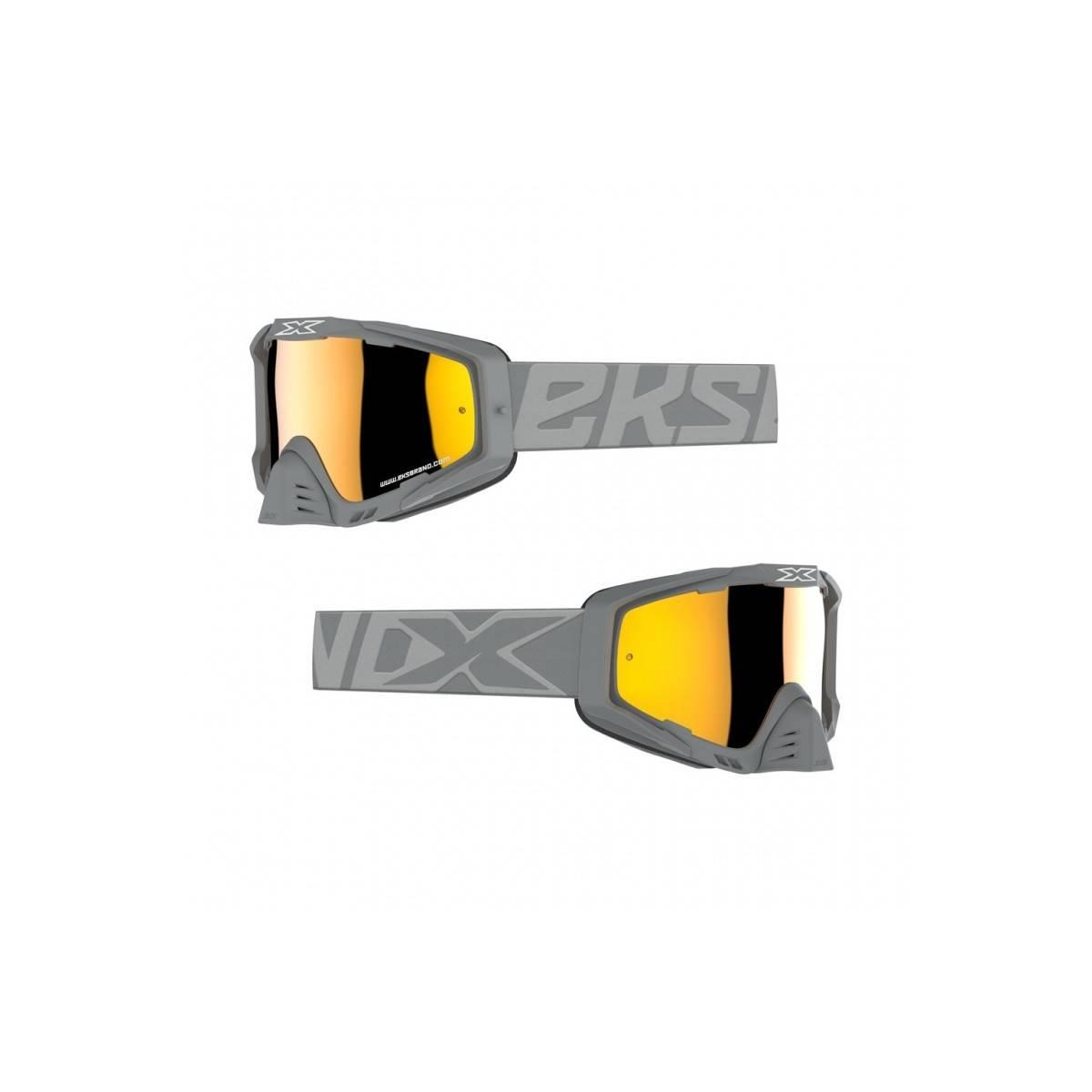 Gafas EKS PREMIUM F-16 - GRIS Espejo dorado
