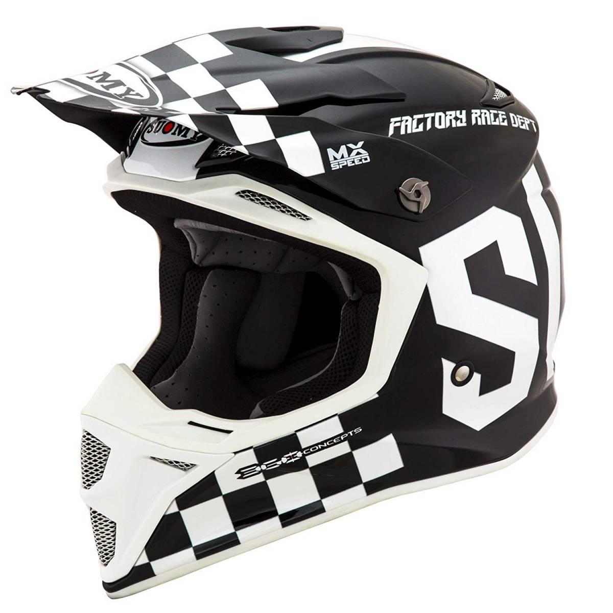 KSMS0007 - Casco Suomy Mx Speed Master Negro Blanco