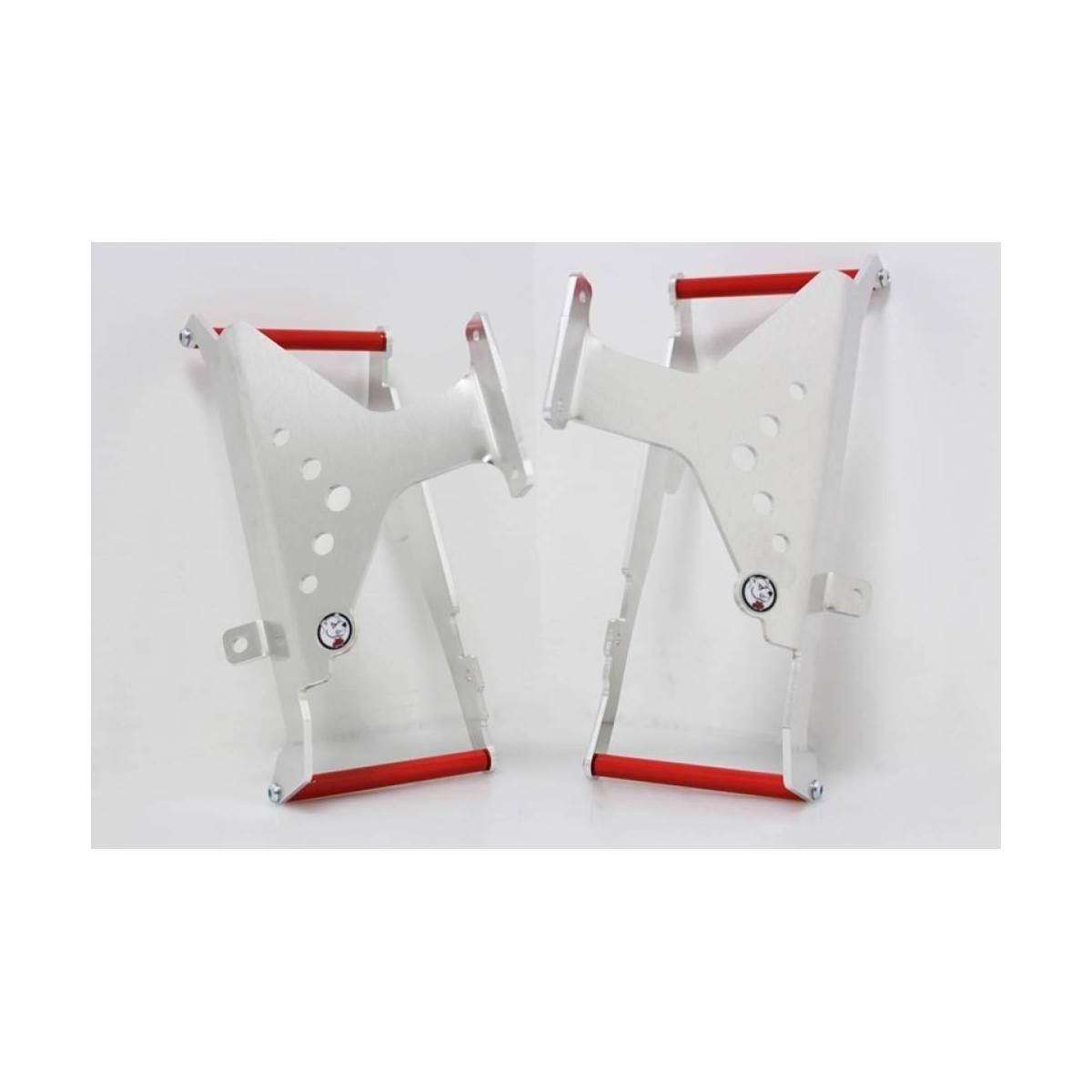 AX1257 - Protectores De Radiador Aluminio Rojo Axp Honda