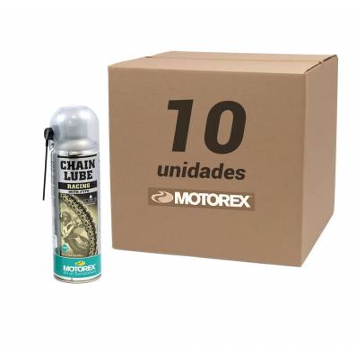 Pack 10unds Spray cadena Motorex con tefon 500ml (especial enduro y cadena de retenes)