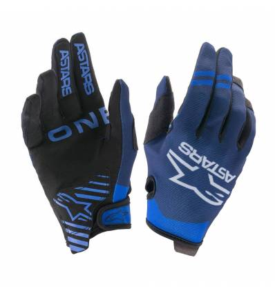 GUANTES ALPINESTARS RADAR COLOR AZUL NEGRO