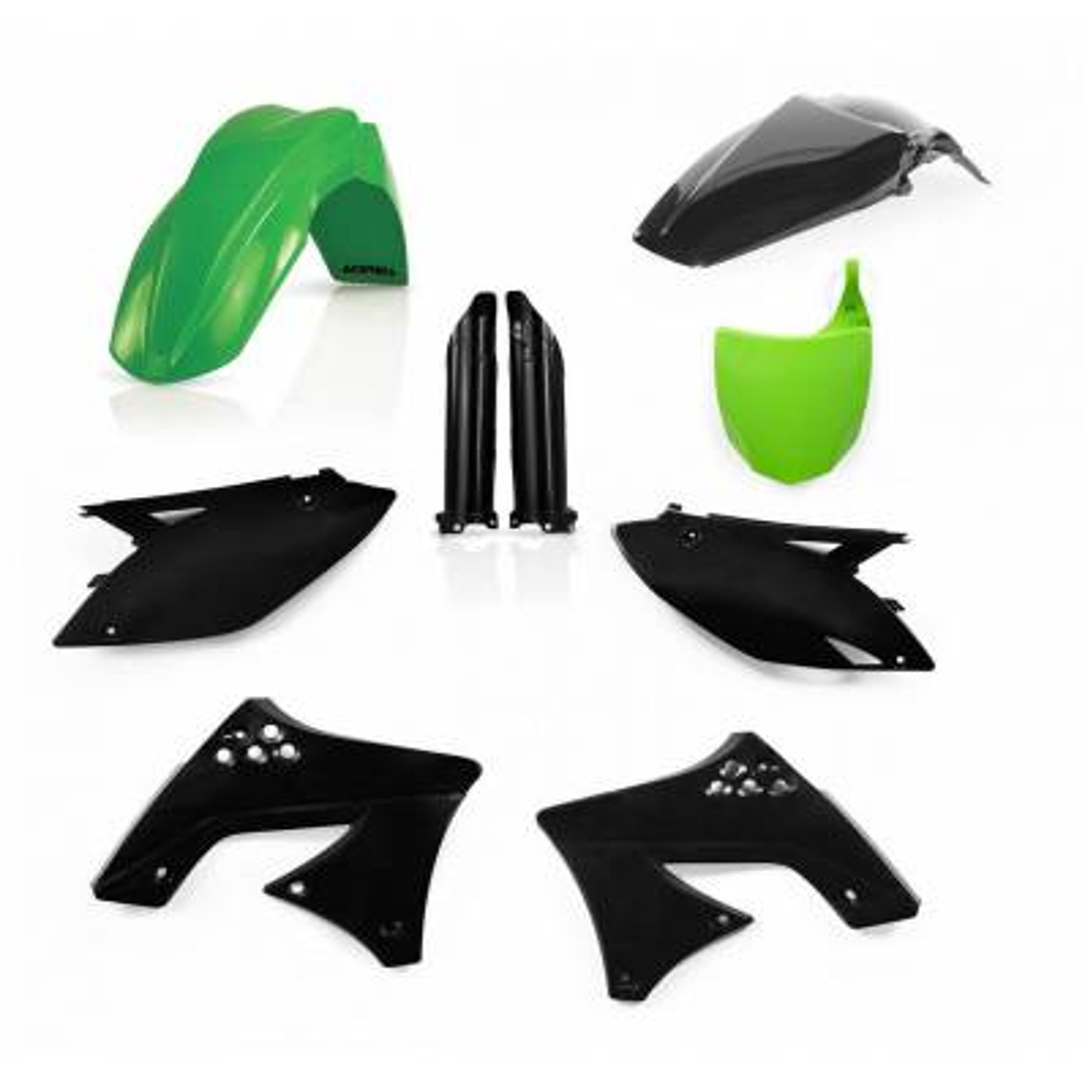 0013978-377 - Full Kit Plasticos Kxf 250 09 12 Verde Negro