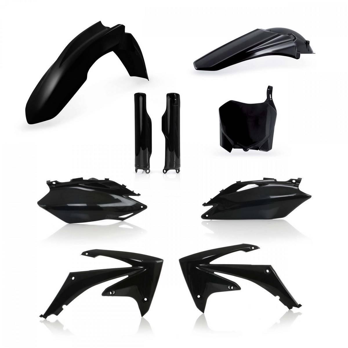 0013979-090 - Full Kit Plasticos Acerbis Crf250 10 Crf 450 09 10 Negro