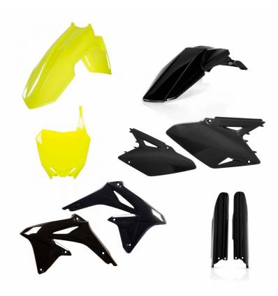 0013982-061 - Full Kit Plasticos Rmz 450 08 17 Amarillo Fluor
