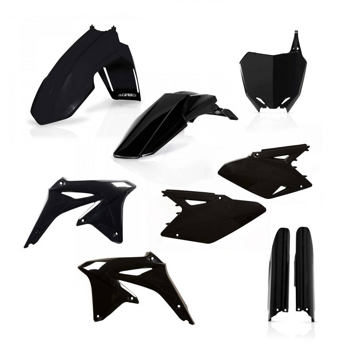 0013982-090 - Full Kit Plasticos Rmz 450 08 17 Negro