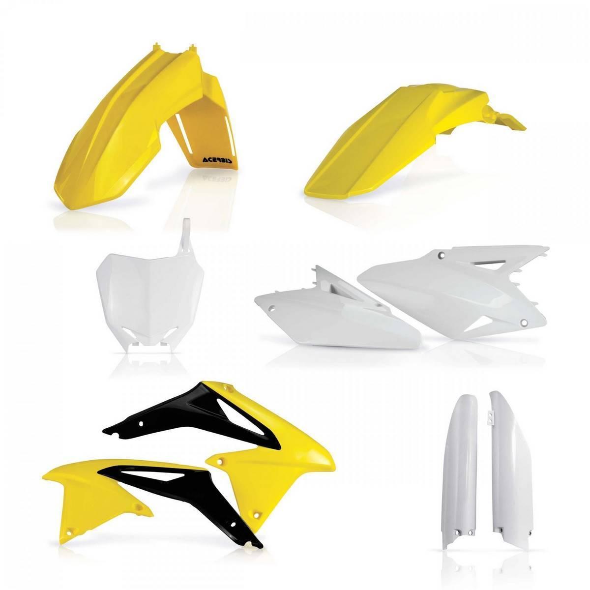 FULL KIT PLASTICOS RMZ 450 08/17 BLANCO