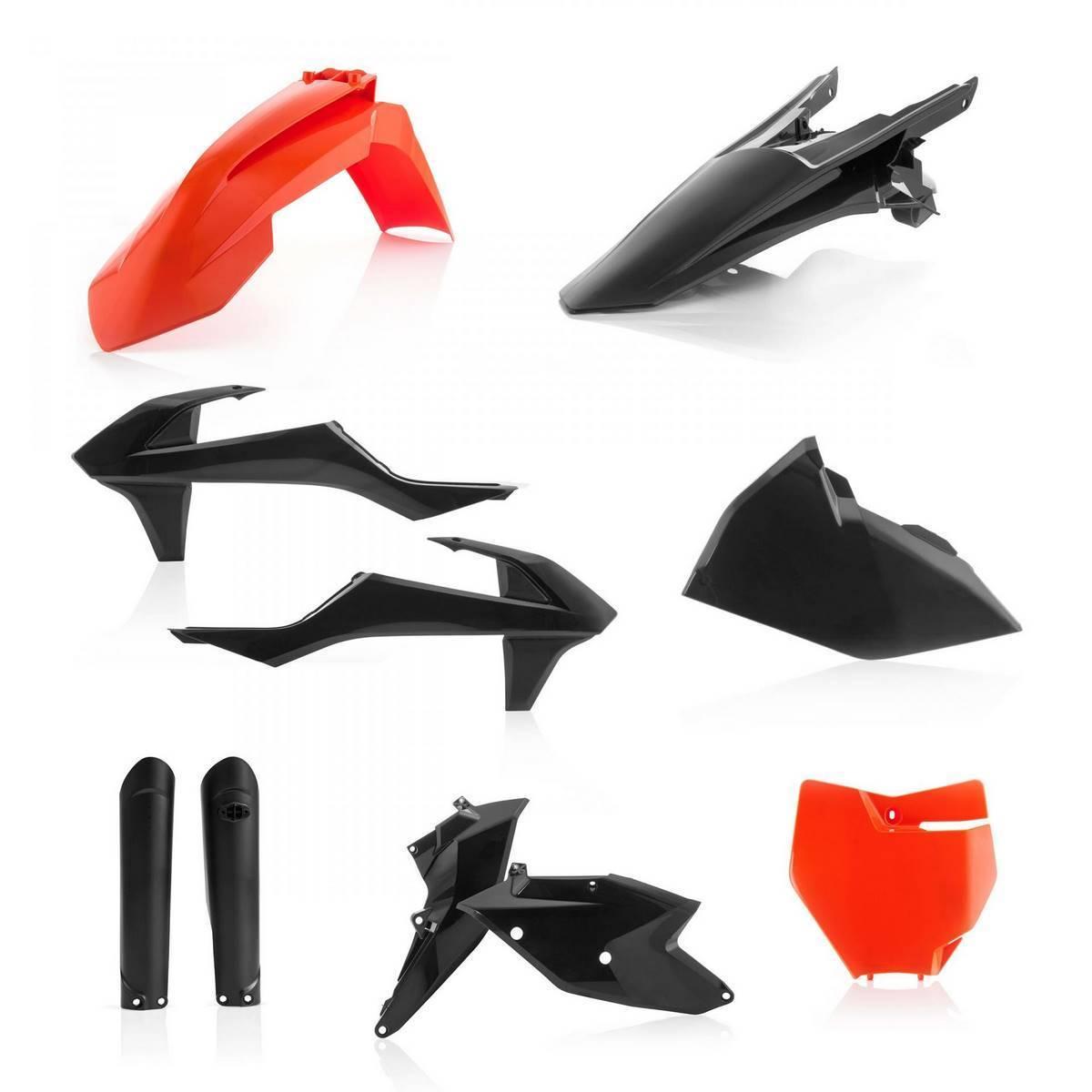 0021741-011 - Full Kit Plasticos Sxf 16 18 Naranja Negro