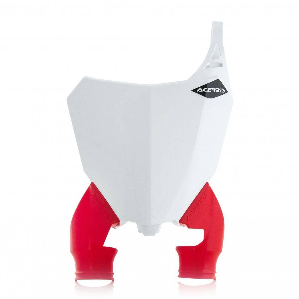 0022391-239 - Portanumero Delantero Raptor Crf250 18. 450 17 18 Blanco Rojo